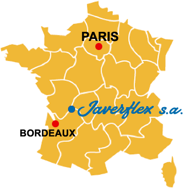 Map of the location of the Javerflex Company
